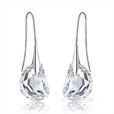 fashion jewelry clear Austrian crystal earring dangle wedding E687