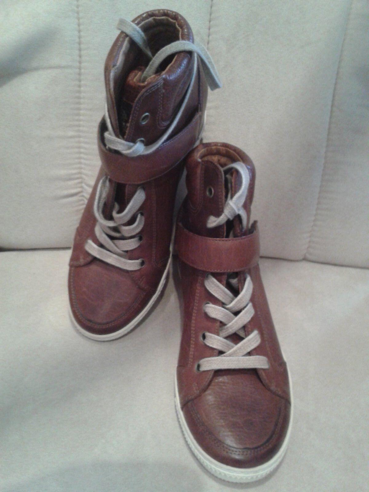 Paul Grün Damenschuhe,NEU,hochwertiges Leder,Größe 4,Farbe cognac,NP