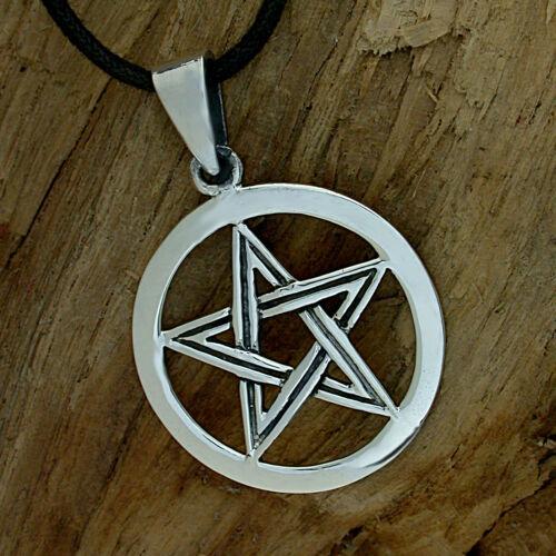 925 Sterling plata pentagrama cadenas-remolque metal gótico gótico icono de protección