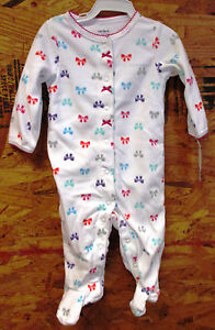 8db3804c1991 Carter s Girls footed 1 piece sleeper outfit - 3