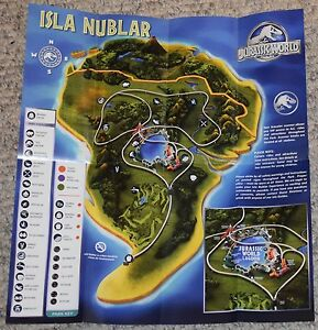 Jurassic World Tour Brochure Prop Replica Exclusive New Design Ebay