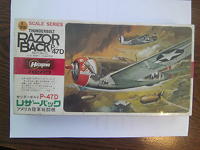 Hasegawa P-47D Thunderbolt 1//72 Scale A Series US Army Air Force Fighter Aircraft Model Kit//Item # 00138