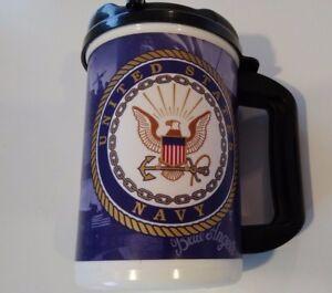 United States Navy 20 oz Plastic Travel Mug