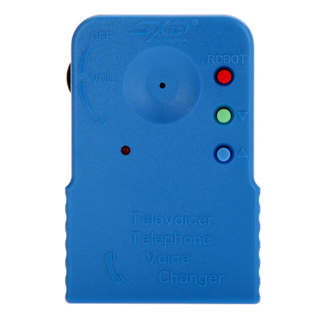 Mini Wireless WiFi 8 Multi Voice Changer Microphone Disguiser Blue US STOCK