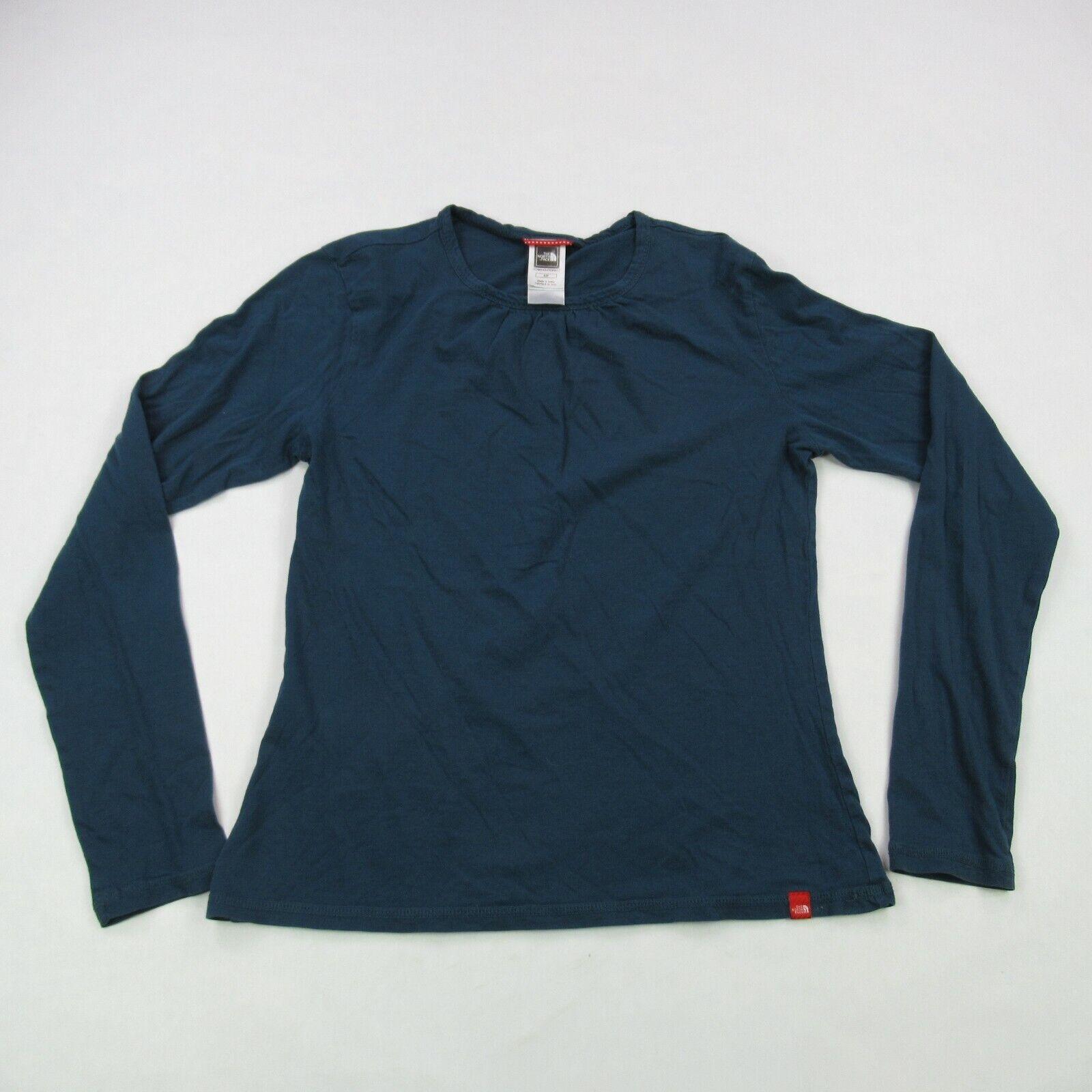 North Face Shirt Womens Small Blue Long Sleeve Regular Fit Casual Lightweight