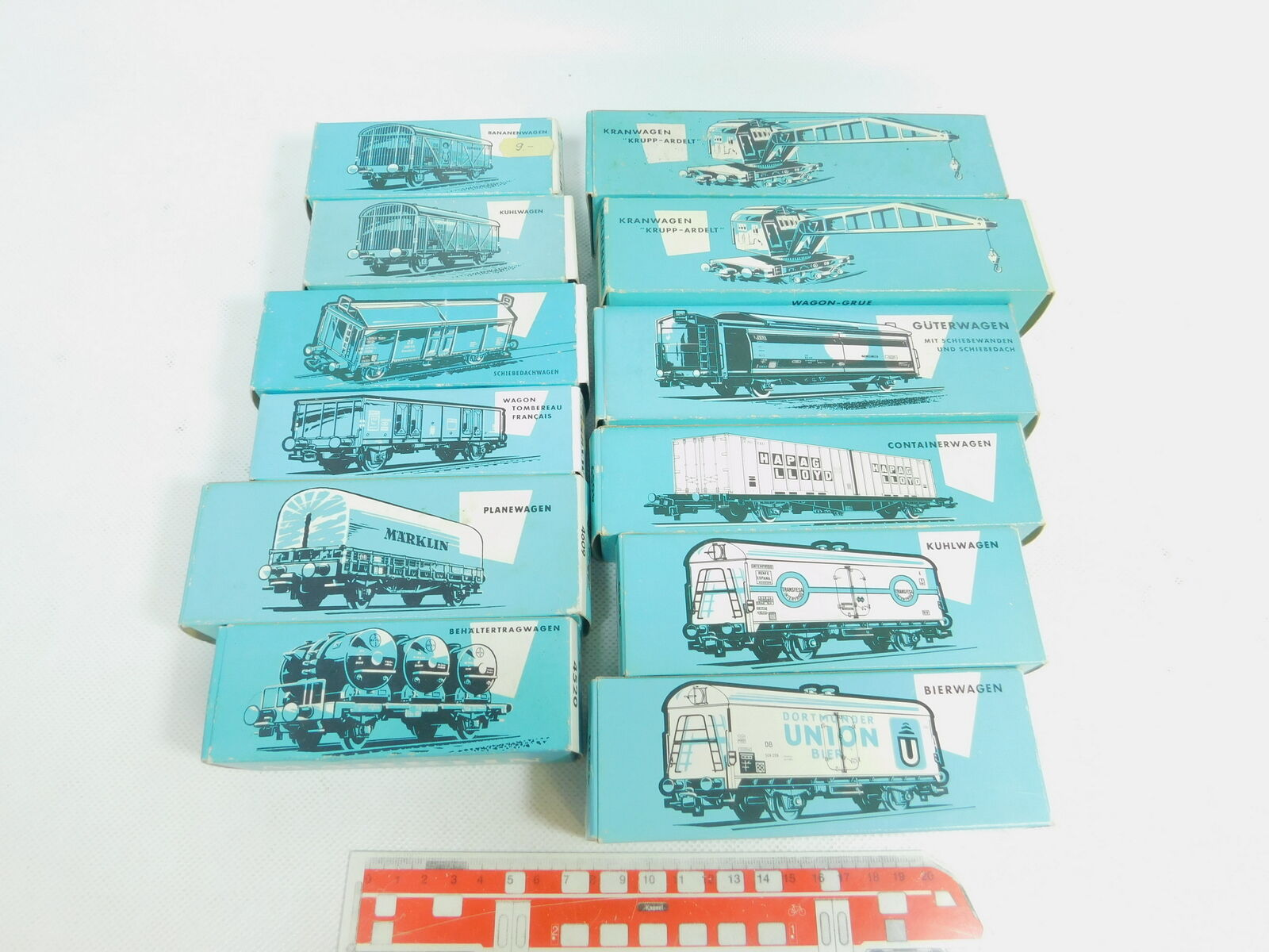 Bm455-1  12x märklin h0 empty box   4508+4509+4520+4609 + 4611+4619+4623+4633  pas de taxes