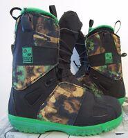 Mens 8 Salomon Savage Bonfire Snowboard Mountain Insulated Boots Camo $250