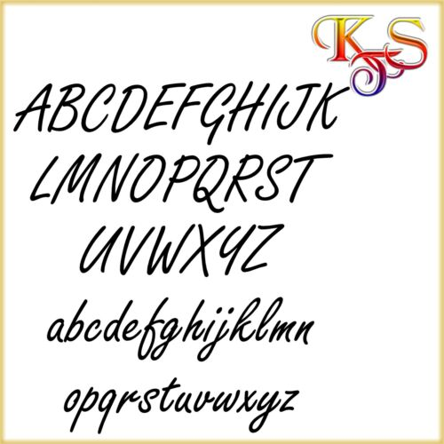 ♥♥ DECAL sticker furniture door Car Tiles Wall Tattoo Letter Name h5 ♥♥
