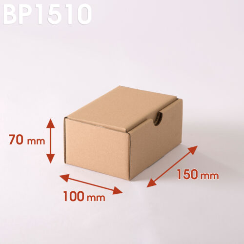 Lot de 5 Boîtes postales brunes 150x100x70 mm