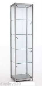 Merveilleux Image Is Loading High Class Aluminum Amp Glass Tower Display Cabinet