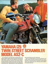 1969 Yamaha 125 AS2-C Street Scrambler motorcycle sales brochure (Reprint) $7.50