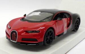 Coche-modelo-escala-1-24-Maisto-31524-Bugatti-Chiron-Sport-Rojo-Negro