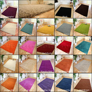 SMALL-EXTRA-LARGE-SIZE-THICK-5cm-PILE-PLAIN-MODERN-NON-SHED-SOFT-SHAGGY-RUG