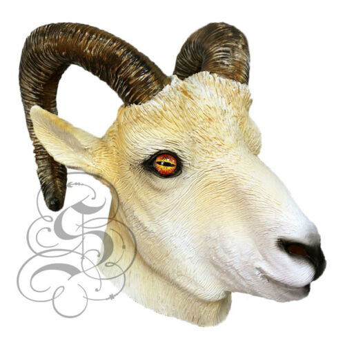 Halloween Props Theater Props Photography Latex Realistic RAM Head Party Mask