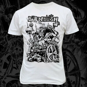 BIRDFLESH-Wheelchair-Impaler-T-SHIRT-WHITE-GRINDCORE