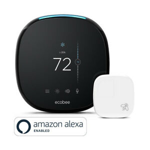 Ecobee4-Wi-Fi-Thermostat-with-Room-Sensor-and-Built-In-Amazon-Alexa-Black