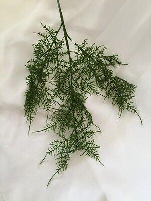 1x Artificial silk wedding flowers asparagus Fern green ferns greenery real look