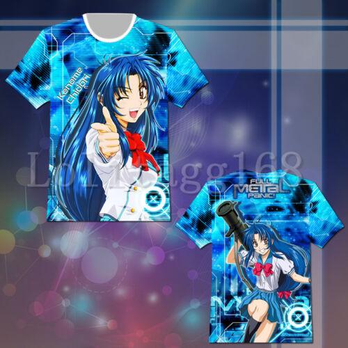 Full Metal Panic Kaname Chidori T-shirt Tee Top Cosplay Costume Summer Cool Gift