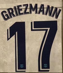 Flocage Nameset GRIEZMANN  #17 Barca 2019-2020 3rd-Third La LIGA