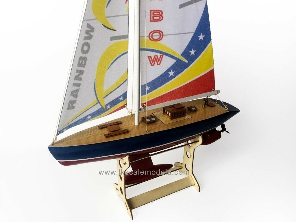 "25"" RC Remote Control 4 Channels Channels Channels Sailboat 120SH Motor - Rainbow 88e4dc"