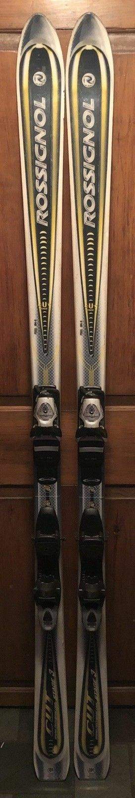 """184 cm Rossignol waxed skis bindings + men's 11.5 boots + never used 52"""" poles"""
