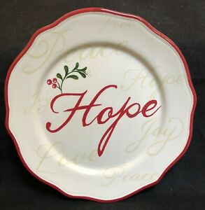 RARE-Better-Homes-amp-Gardens-WINTER-FOREST-HOPE-Salad-Plate-8-3-4-034-EXCELLENT