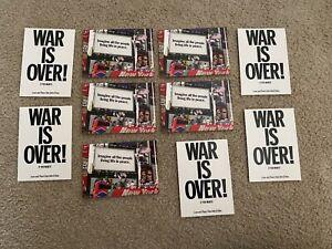 2002 Post Card LOT (5 of each) Lennon, Yoko Ono War Is Over & Imagine All People