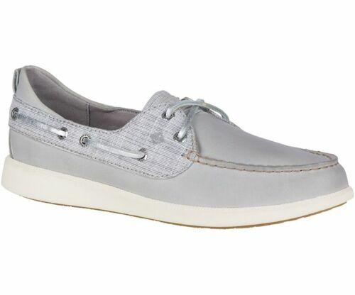 Sperry Women/'s Oasis Dock Metallic Grey Boat Shoes NIB STS82672 Size 7 /& 7.5 M