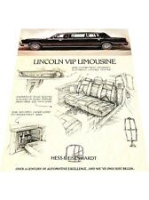 Hess Eisenhardt Town Car Lincoln Limousine 1-page Car Brochure Card - 1987 1988