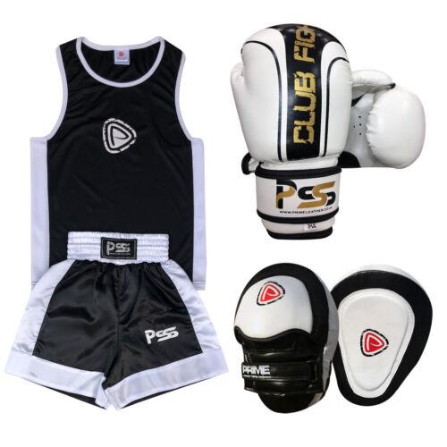 Kids Boxing Uniform Set 3 PCS Uniform Boxing Gloves 1006 Focus Pads 1102 Set-19