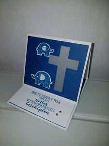 Details Zu Taufe Kommunion Tischdeko Geschenk Mädchenjunge Aus Stampin Up Papier Stempel