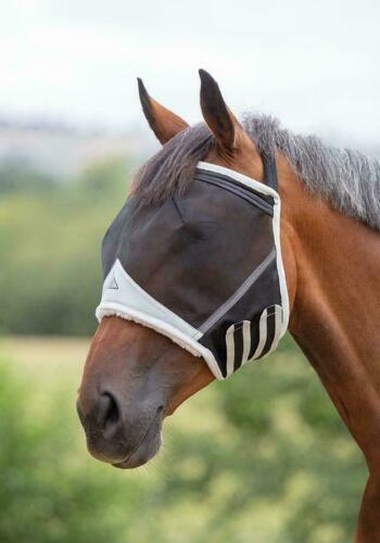 UV Protection In Teal or Black Shires Fine Mesh Earless Horse//Pony Fly Mask