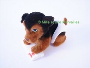 Figurine-DORKIE-sa-carte-Puppy-and-Kitty-in-my-Pocket-Couche-Magique