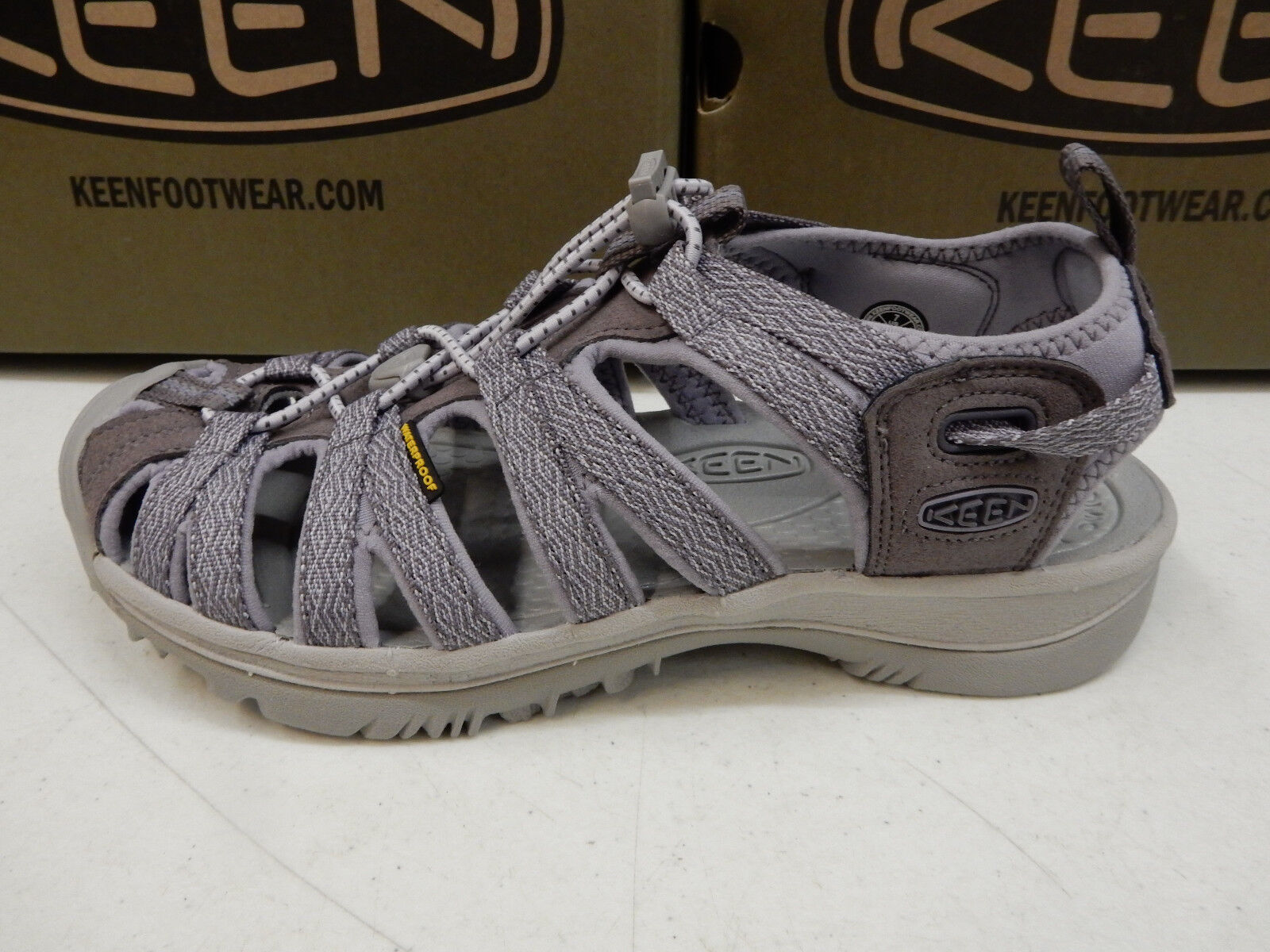 Keen Womens Whisper Shark Lavender Grey Size 8.5