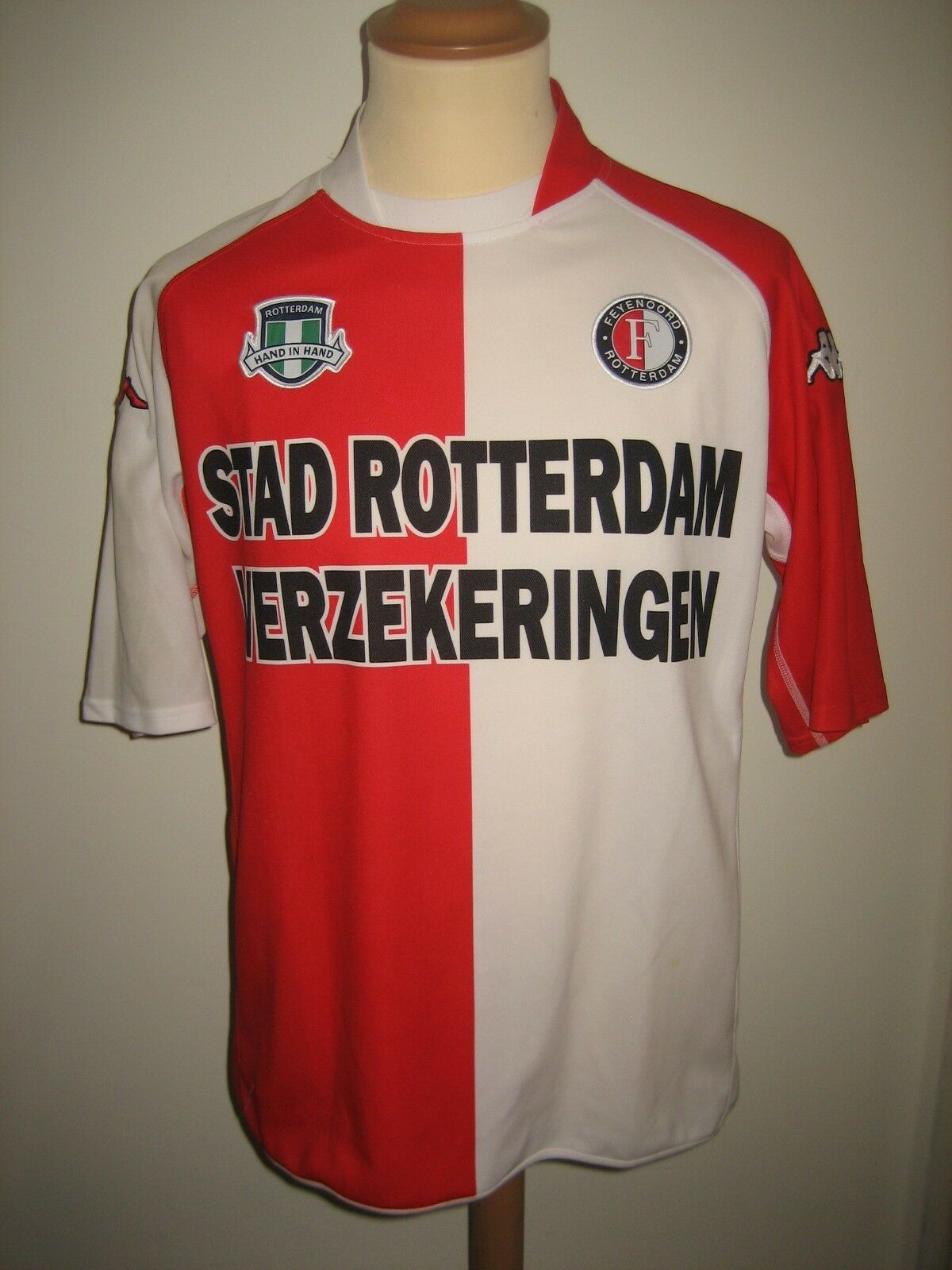 Feyenoord home Holland football shirt soccer jersey voetbal maillot size XL