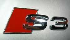 Audi originales s3 letras cheers logotipo emblema nuevo 8l/8p/8v 8p0853735 2zz