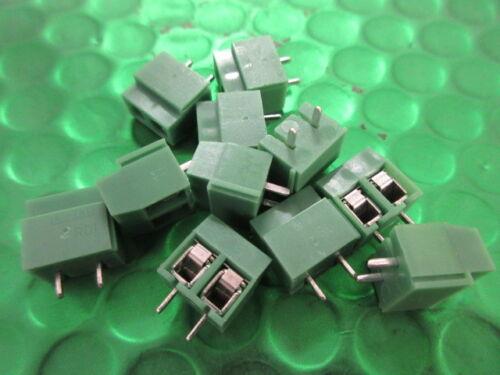 2 posizioni verticale fisso morsetti componibili 5mm 10a 2 VIE x10 pe 14-30 AWG