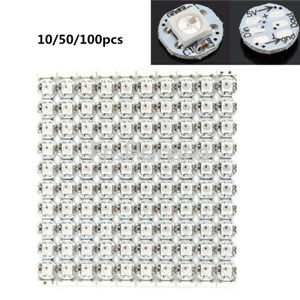 10-50-100PCS-Mini-WS2812B-WS2811-IC-10mm-3mm-DC5V-SMD-5050-RGB-Led-light-Sample