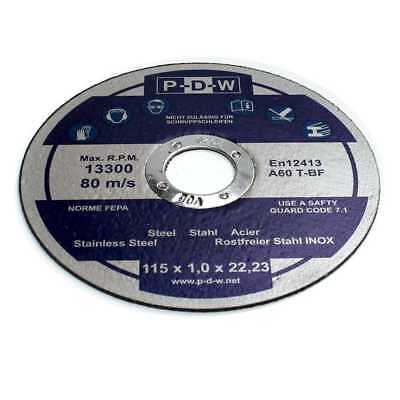 10 Stück INOX Trennscheiben Ø 115 x 1,0 x 22 mm Flex-Scheiben Edelstahl Flex