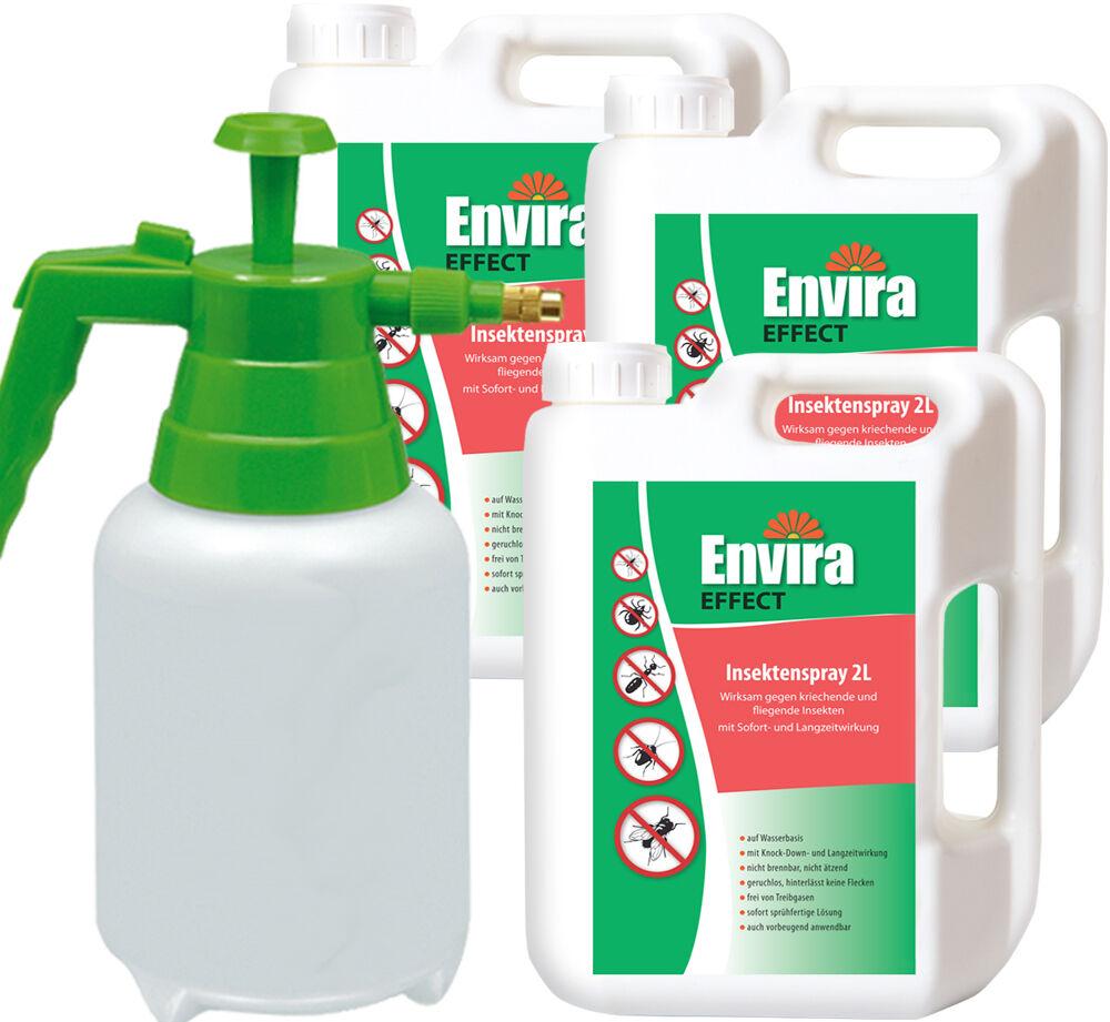 ENVIRA EFFECT Insektenvernichter 3x2Ltr + Sprüher Sprüher Sprüher 73eb6b