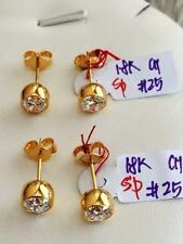 SOLID 18K Chinese Gold Earrings -  2.5 g ( 1 pair only)