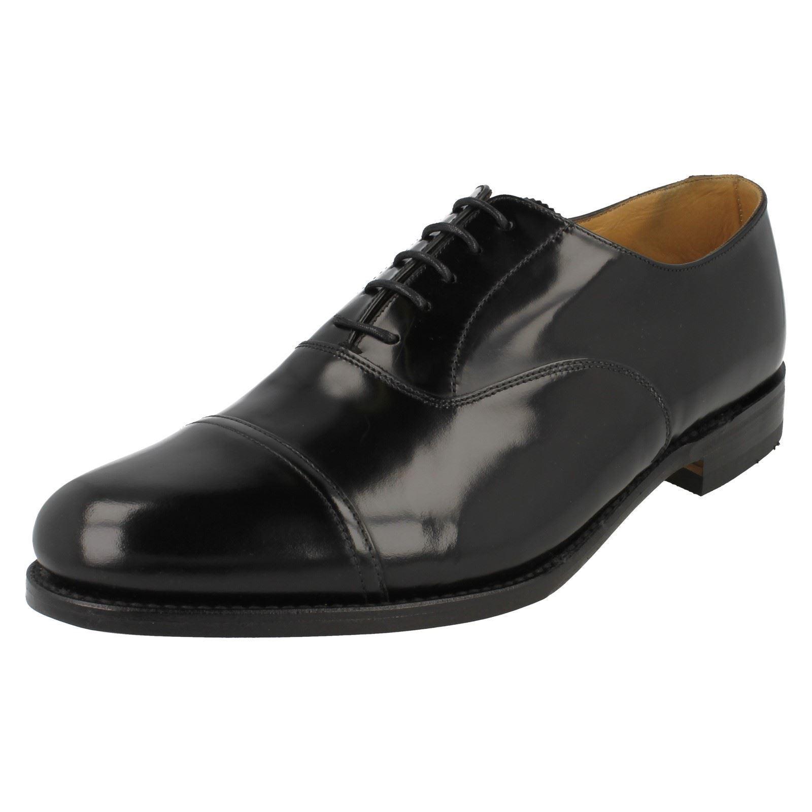Herren Elland G Passform Schwarzes Leder Zehenkappe Schnürschuhe Schuhe von