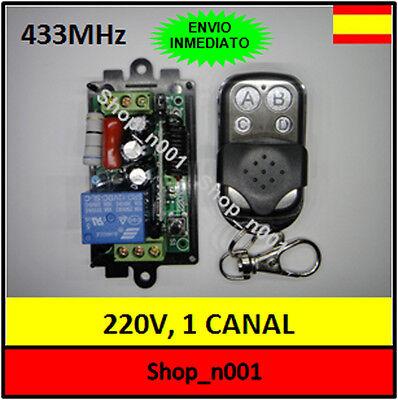 Emisor Receptor 220VAC con 2 canales a 433 Mhz.