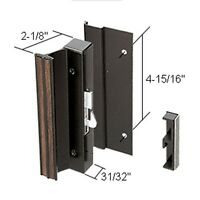 Crl High Profile Black Hook-style Surface Mount Handle; 4-15/16 Screw Holes