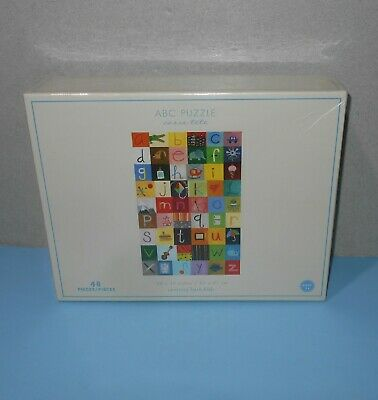 New Pottery Barn Kids Abc Quilt Floor Puzzle 48 Pieces 24
