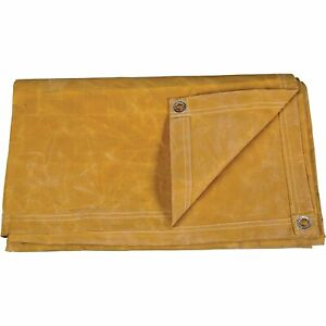 Details about 12' X 16' Tan Canvas Tarp 10 oz Heavy Duty / Water Resistant