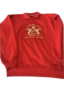 Vintage Men/'s Giorgio Beverly Hills Black Sweatshirt.