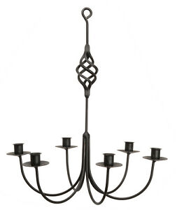 Bird cage basket wrought iron candle chandelier 6 arm handcrafted image is loading 034 bird cage 034 basket wrought iron candle aloadofball Image collections