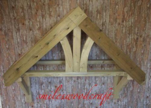 Fleur De Lys Style Wooden Door Canopy Porch Timber Front Door