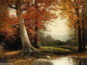 ZWPT17 charming 100% hand-painted modern landscape tree oil painting on Canvas